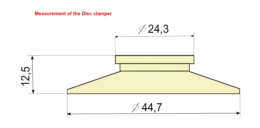 Masse Disc Clamp für CD-Pro2